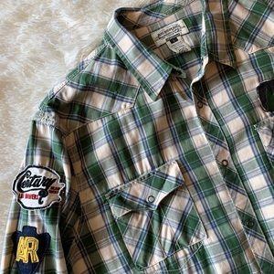 American Rag flannel button up || men's large